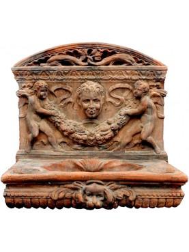 Acquasantiera fiorentina in terracotta