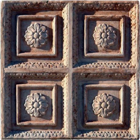 Grande Formella in terracotta quadripartita