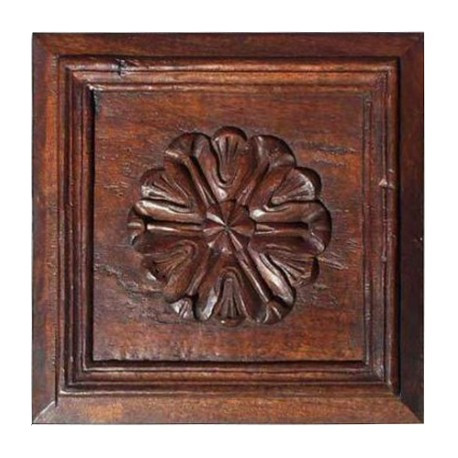 Wooden Plaque - hand made carved - tectona genus