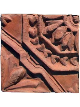 Originale formella in terracotta antica di recupero