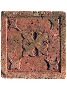 Hand made ancient bas-relief tile