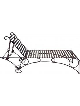 Lettino piscina in ferro battuto reclinabile