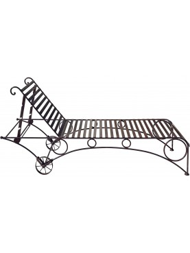 Pool bed forged iron Ovatrol painted