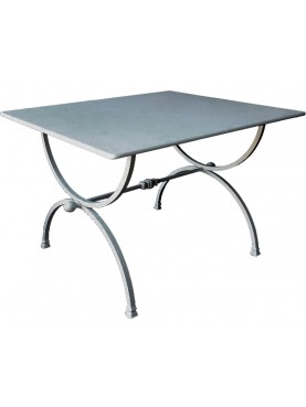 Square table HAND MADE BY US - FORGED IRON - PORCINAI TABLE