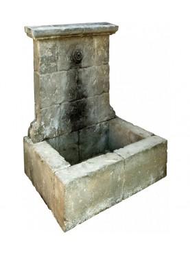 Fontana francese in pietra calcarea h 156 cm