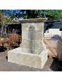 French Stone fountain - limestone h 156 cm