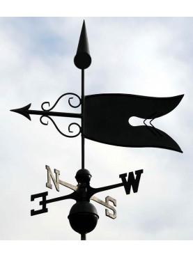 Weathervane iron flag