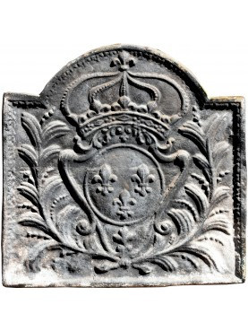 Ancient French plate for fireplace - French weapons