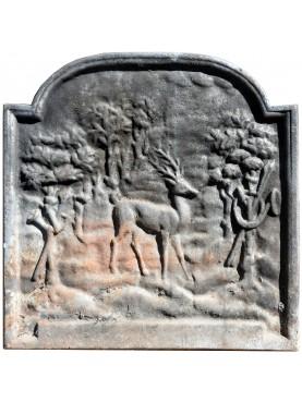 antica Lastra in ghisa per camino francese - immagine bucolica