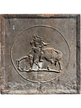 Original ancient fireback napoleon from Cherasco Italy
