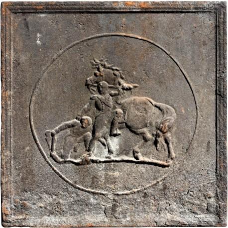 Originale antica lastra da camino Napoleonica