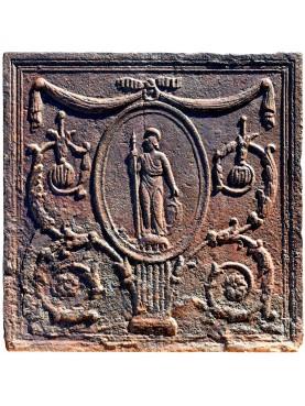 antica lastra neoclassica con atena (Minerva italica)