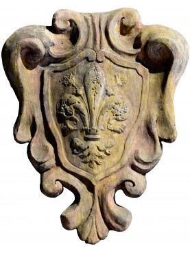 Coat of arms Florence with classic Lily flower