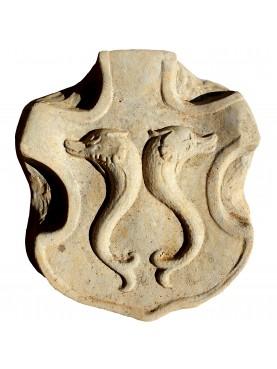 Whale vertebra medium size terracotta 12455 Vertebra Balena media in Terracotta