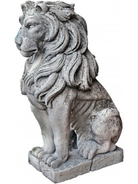 Large hand-carved Venetian stone lions