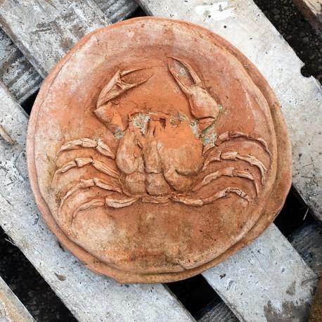Tondo bassorilievo moneta Didramma di Akragas in terracotta