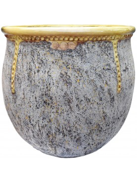 Typical flamed vase from Anduze (F) - Ø86cms - French majolica