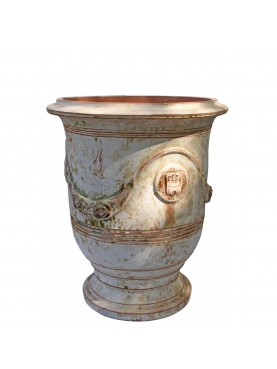 Typical flamed vase from Anduze (F) - Ø48cms - French majolica