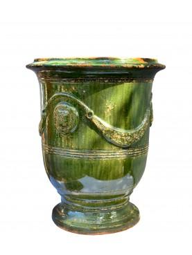 Tipico vaso fiammato di Anduze (F) - Ø56cm - maiolica francese