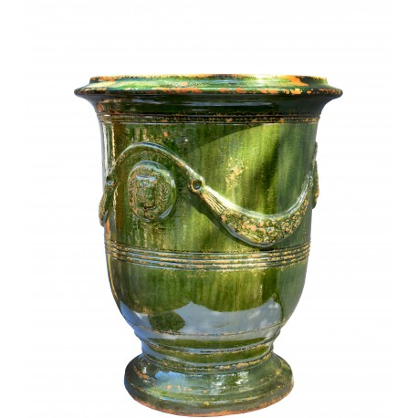 Typical flamed vase from Anduze (F) - Ø56cms - French majolica