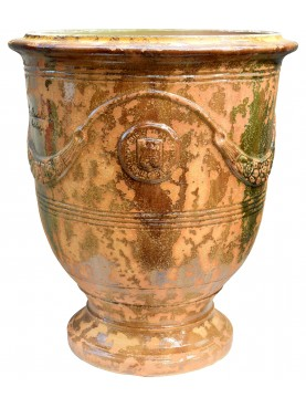 Typical flamed vase from Anduze (F) - French majolica