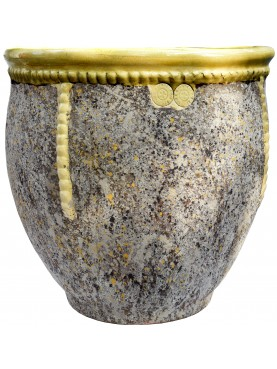 Typical flamed vase from Anduze (F) - Ø60cms - French majolica