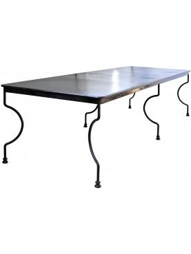 Minimalist steel table 300 cm long