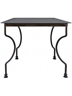 square Minimalist steel table 100 X 100 cm