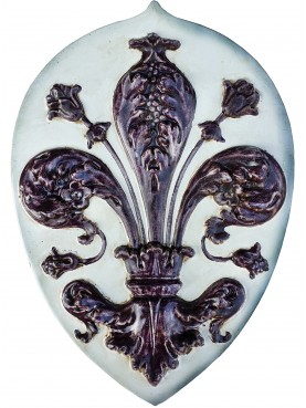 Reproduction of Florentine Majolica lily - Luca Della Robbia 1463