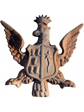 Stemma nobiliare Aquila - in terracotta