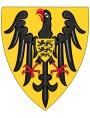 Noble coat of arms of Federico Ruggero di Hohenstaufen (Jesi, 26 December 1194 - Fiorentino di Puglia, 13 December 1250), king o