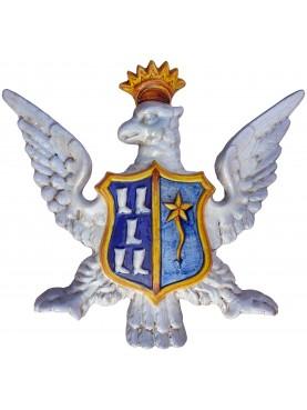 Eagle coat of arms - majolica
