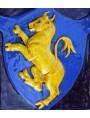 Majolica coat of arms - Tarugi - fourios bull