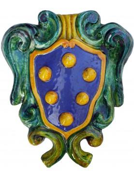 Medici's majolica coat of arms