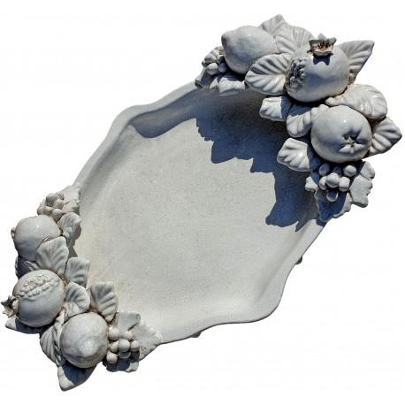 centrotavola ciotola piccola con frutta robbiana bianca