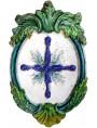Stemma in terracotta con la croce di Avellana