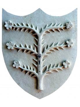 Malaspina's coat of arms Spinofiorito - limestone