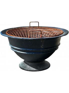 High flat grill