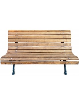 Bench with slats placed side by side like in the painting by Vittorio Corcos