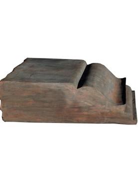 Grande Mensola in terracotta cava per essere armata
