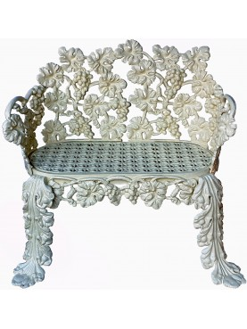 Copy of a rare Scottish bench - Charles D. Young & c. 1850, Edinburgh - Grape bunches and leaves