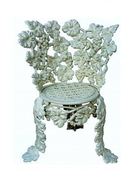 Copy of a rare Scottish armchair - Charles D. Young & c. 1850, Edinburgh - Grape bunches and leaves