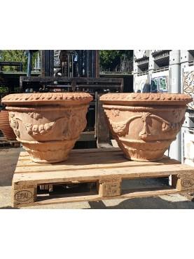 Pair of ancient Medici twin basins