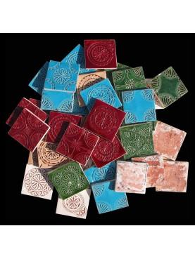 Engraved Moroccan Majolica Tiles 10x10