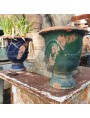 pair of antique French anduze majolica vases