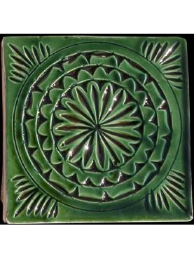 Piastrelle Marocchine a ceramica impressa - Verde 10x10