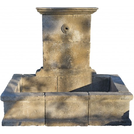 Stone fountain ancient old wash