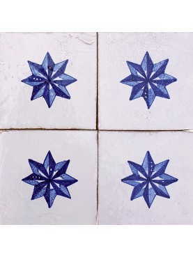 Majolica tile with star