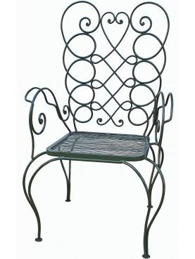 Le sedie in ferro battuto di Villa Necchi Campiglio