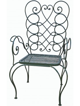 Villa Necchi Campiglio chair forged-iron